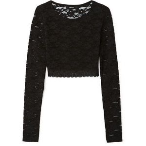 Forever 21 black lace long sleeve size small